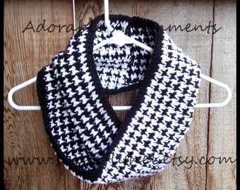 Houndstooth Cowl Crochet Pattern, Instant Download Crochet Pattern Houndstooth, Houndstooth PDF Crochet Pattern, Houndstooth PDF  Pattern