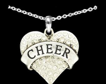 Cheer Rhinestone Heart Necklace