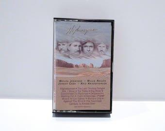 Willie Nelson Cassette Tape Highwayman Vintage 1985 Johnny Cash Waylon Jennings Kris Kristofferson Last Cowboy Song Country & Western Music