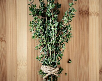 Get 20% OFF Today Food photography, Garden art, Herbs, Home decor, Art prints, Kitchen art, Rustic / Culinary Herbs No. 1 Thyme on Bamboo