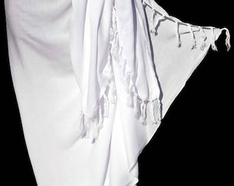White Rayon Sarong