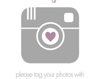 Baby Shower Instagram Hashtag Sign