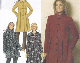 FREE US SHIP Butterick 6141 Seam Detail Flared Jacket Coat Sewing Pattern Size 6 8 10 12 14 16 18 20 22 Bust 30 31 32 34 36 38 40 42 44  new