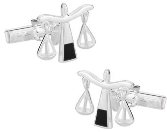 925 Sterling Silver Scales of Justice Cuff Links for Lawyer / Attorney