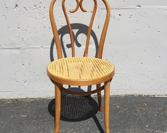 Bentwood Cane Chair Etsy