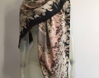 Huge Yves Saint Laurent, silk scarf