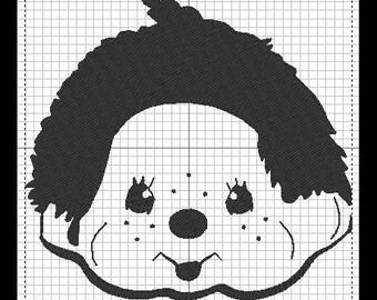 KIKI the Monchichi embroidery design
