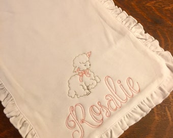 Personalized burp cloth for girl or boy