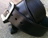 Vintage Noir Handcrafted Leather Belt