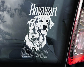 Hovawart on Board - Car Window Sticker - Hovie Dog Sign Decal - V03