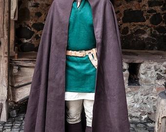 Burgschneider Medieval Viking Hooded Wool Felt Coat Hibernus
