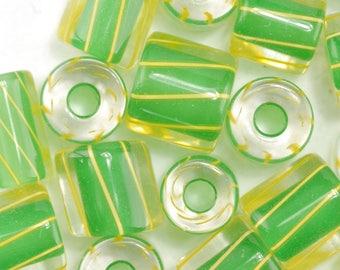 Green Dragon David Christensen Furnace Glass Beads (112)