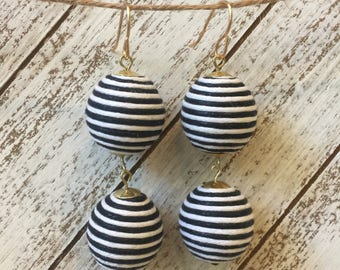 Black and White Statement Earrings