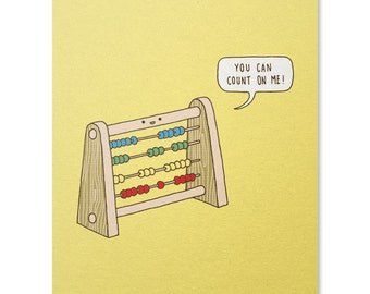 Reliable Abacus Print / Math Art Print / Mathematics / Pun Print / Cute Wall Art / Funny Art Print / Home Decor / 8 x 10