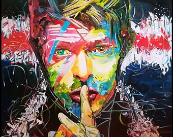 Painting of David Bowie