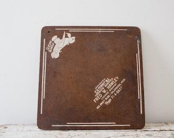 Vintage Wooden Slicing Board Cutting Board Brown Square Michigan Cutting Board