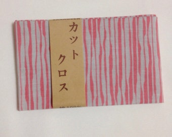 Japanese cotton fabric, pink gray, Made in Japan, DIY fabric, patchwork, FREE SHIPPING, 50cm x 54cm