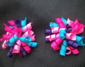 Blue Raspberry korker bow