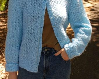 Baby Blue Knit Cardigan