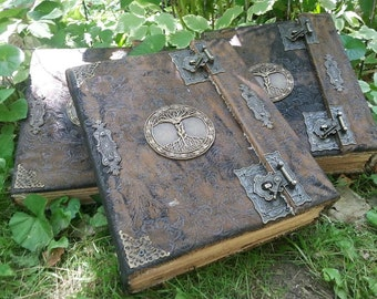 Book of Shadows 3 books for THE NEW WITCH with spells Wicca Pagan Spells Book of Shadows grimoire Witch book of shadows Journal  old