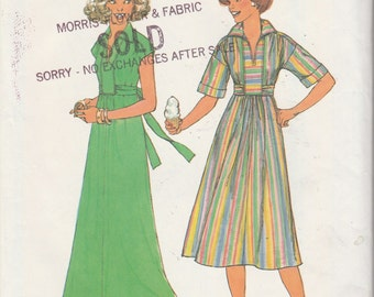 Simplicity 8025  Misses' Pullover Dress in Two Lengths Size (10-12)  UNCUT