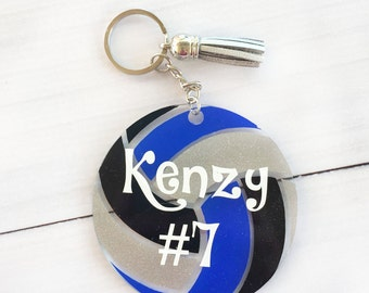 Personalized volleyball gift, Volleyball keychain, Volleyball bag tag, Custom luggage tag, volleyball team gifts, senior gift