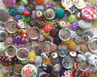 Button Earrings / 5 Pairs for 25 / Wholesale Earrings / GRAB BAG / Custom Order Jewelry / Stud Earrings / Gift Ideas / Party Favors