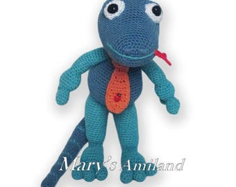 George Lizard The Ami - Amigurumi Crochet Pattern - Digital Download
