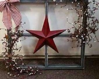 Handmade wooden window frame