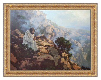 Not By Bread Alone By C. Michael Dudash Limited Edition 30x40 framed option only Christian Art