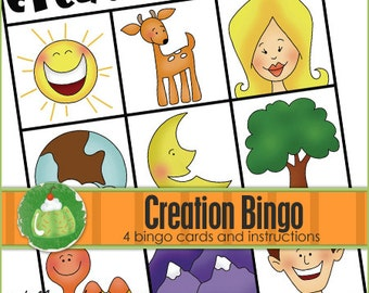 CREATION BINGO - Downloadable PDF Only