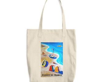 Vintage Travel Poster Tote Bag | France