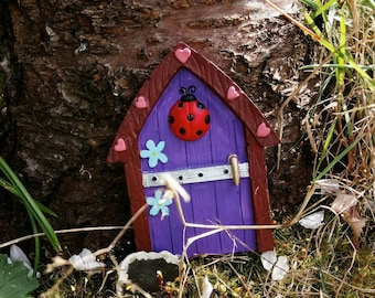Fairy door, personalised fairy door, plaster fairy door, garden fairy door