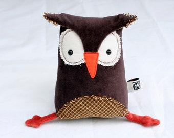 Muma Owl Plushie, Little Brown Owl Stuffie Toy, Funny Pocket Plush