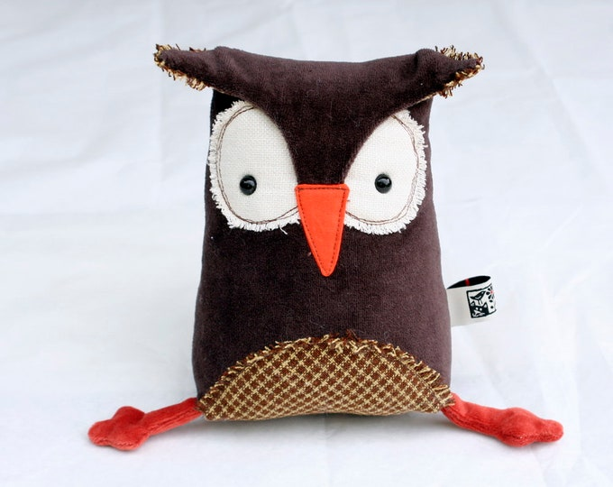 Muma Owl Plushie, Little Brown Owl Stuffie Toy, Funny Pocket Plush