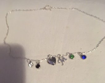 Mother's Day Birthstone Necklace.