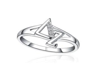 Delta Zeta Ring - Sterling Silver (DZ-R002)