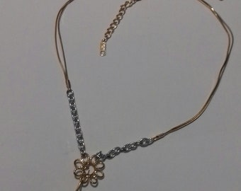 Gold plated Necklace 2 colors > Gold and Grey