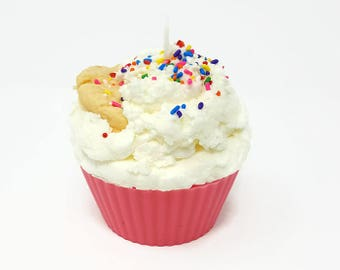 Jumbo Sugar Cookie Cupcake Candle