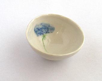 Small Decorative Bowl - SALE / SECOND - Floral Bowl - Small Bowl - Gift For Her - Ceramic Bowl - Tiny Bowl - Porcelain - Sale Home Decor