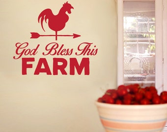God Bless This Farm - Quotes Wall Decals