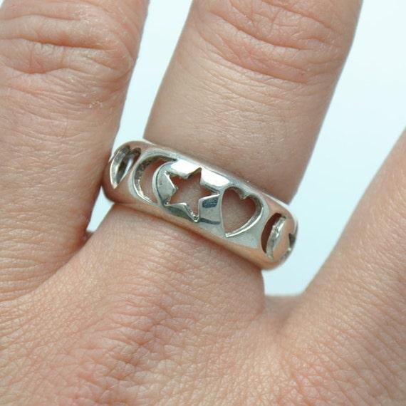 Silver ring alphabet, vintage sterling silver ring, alphabet ring, vintage silver rings, alphabets rings, vintage jewelry, vintage rings