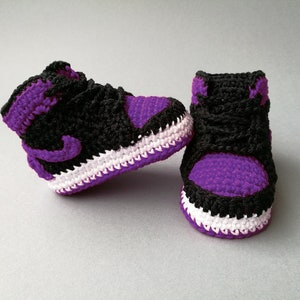 Baby crochet Air Jordan shoes, Nike sneakers