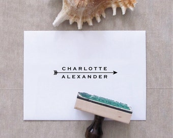 Arrow Name Stamp - Custom Stamp for Stationery by Pretty Chic - Arrow Stamp - Favor Stamp - Wedding Stamp - Business Stamp