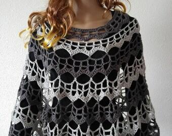 Elegant crochet poncho
