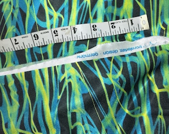 fabric bty stretch knit abstract design FREE SHIPPING