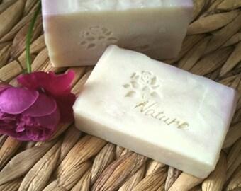 Almond Rose soap. handmade soap. natural scented soap. essential oil soap. fragranced romantic soap. organic Savon.Moisturising soap. Sapone