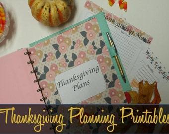 Thanksgiving Planner, Thanksgiving Planning Inserts, Holiday Planning, Entertaining, Big Happy Planner Inserts, MAMBI Thanksgiving