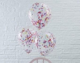 Rainbow Confetti Balloons, Confetti Balloons, Rainbow Party, Kids Party Balloons, Rainbow Balloons, Wedding Balloons, Colourful Balloons