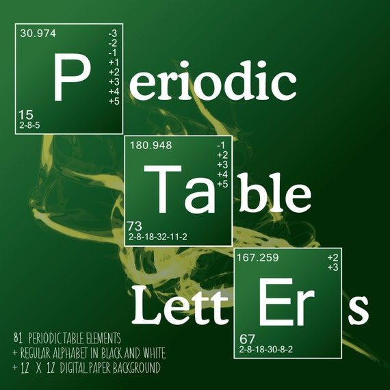 science letters periodic table elements breaking bad style 130 letters pngs and digital paper instant download - Tabla Periodica Breaking Bad